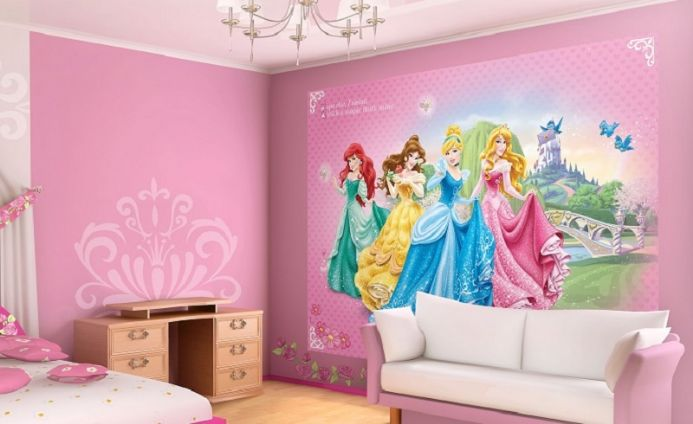 Princess pink wall murals for girls | Homewallmurals.co.uk